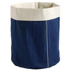 Panier bleu indigo broderie Or - Taille L