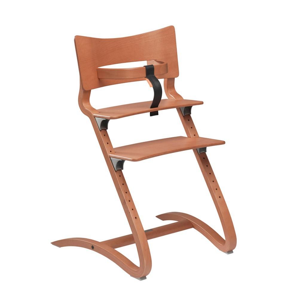 Chaise haute avec arceau cerisier leander univers b b for Chaise haute corolle