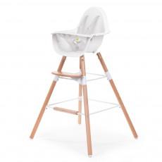 Chaise haute évolutive Evolu - Blanc/naturel