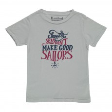 "T-shirt ""Smooth Seas Don't Make Good Sailors"" Ecru"