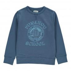 """Sweat """"Punahou School"""" Bleu chiné"""