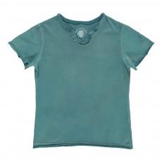 T-shirt Dos Tête De Mort Bleu gris