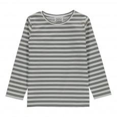 T-Shirt Rayé Mogano Marron glacé