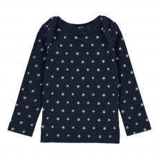 T-shirt Manches Longues Etoiles Mariu Bleu indigo