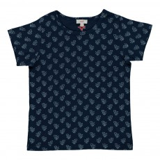 T-shirt Roses Karma Bleu indigo