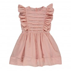 Robe Volants Breeze Rose pêche