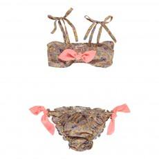 Bikini Imprimé Cachemire Ines Ocre