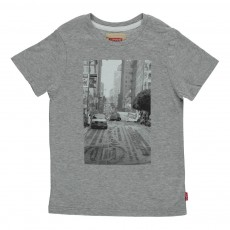 T-Shirt Slim Fit Park Gris clair