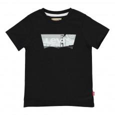 T-Shirt Slim Fit Batbridge Noir