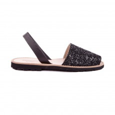 Sandales Avarca Paillettes Noir