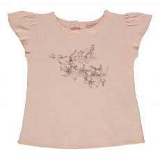 T-shirt Fleurs Papillon Bébé Rose pâle