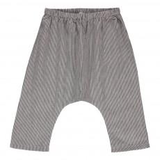 Pantalon Rayé Lurex Jungle Noir