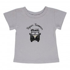 T-shirt Super Summer Tom Bébé Bleu gris