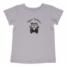 T-shirt Super Summer Tom Bleu gris