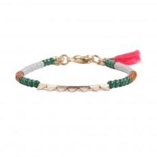 Bracelet Triangles Perles Doré