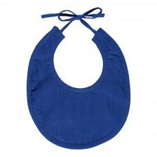 Bavoir crêpe de coton Bulle - Bleu électrique