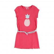Robe Patch Ananas Rouge