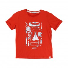 T-shirt Indien Tangerine