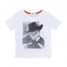 T-Shirt Western Blanc