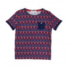 T-shirt Cowboys Bleu roi