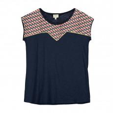 T-shirt Tout Feu Tout Flamme Bleu marine