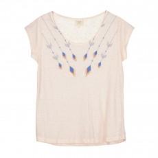 T-shirt Lin Dans Le Mille Rose pâle