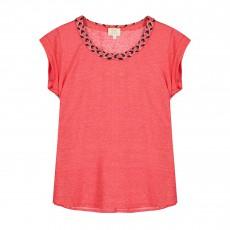 T-shirt Nouer Des Liens Rouge cerise