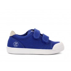 Baskets Ten Velcro Chino Wash Bleu jean