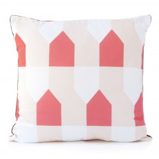 Coussin Vichy grand octave - Corail