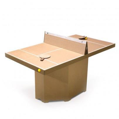 table de ping pong en carton naturel smallable toys jeux jouets loisirs enfant smallable. Black Bedroom Furniture Sets. Home Design Ideas