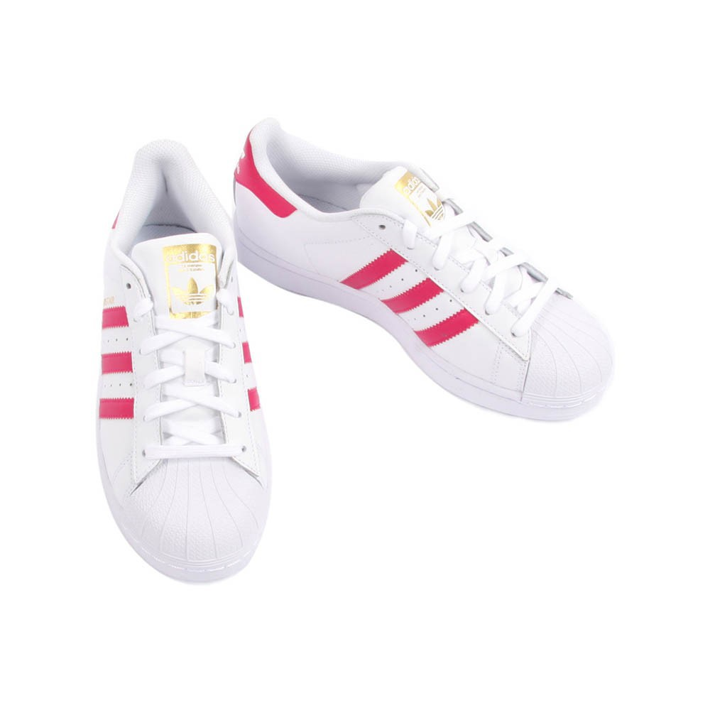 Adidas Unisex Superstar Foundation Sneakers in White & Blue