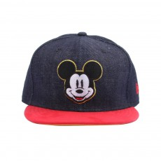Casquette Snapback Ajustable Densuede Mickey Mouse 9FIFT Noir