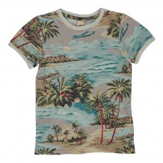 T-shirt Plage Multicolore