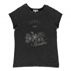 "T-shirt ""Hawaii"" Peanut Noir"
