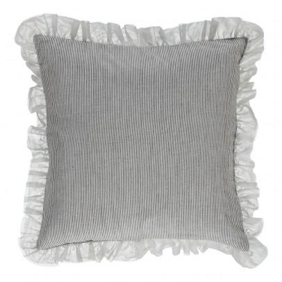 housse de coussin ray e th a noir et blanc louis louise. Black Bedroom Furniture Sets. Home Design Ideas