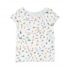 T-Shirt Bords Francs Super Surfeurs Blanc