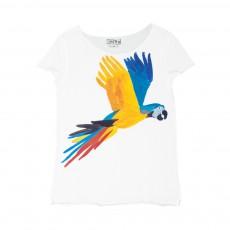 T-Shirt Perroquet Tintin Blanc