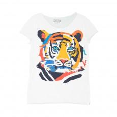 T-Shirt Funky Tiger Blanc