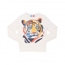 Sweat Funky Tiger Blanc