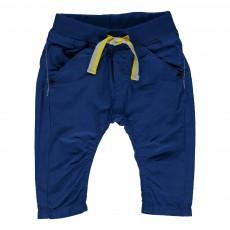 Pantalon Sarouel Toile Bleu électrique