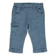 Pantalon Chambray Bleu jean