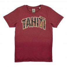 """T-shirt Tie&Dye """"Tahiti"""" Rouge chiné"""