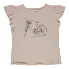 T-shirt Vélo Papillon Rose pâle
