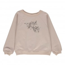 Sweat Fleurs James Rose pâle