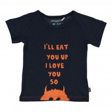 T-Shirt I Will Eat You Bleu nuit