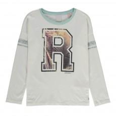 """T-shirt Manches Longues Collège """"R"""" Ecru"""