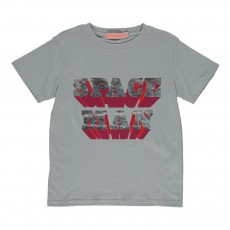 T-Shirt Space Man Gris clair