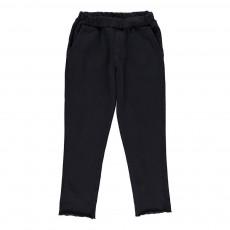Pantalon Molleton Prugna Bleu marine