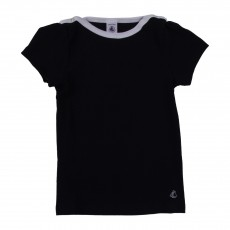 T-shirt Basic Encolure Amiral Bleu marine