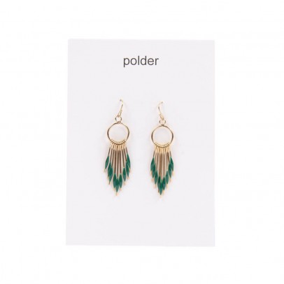 Nashville 3 earrings Emerald green
